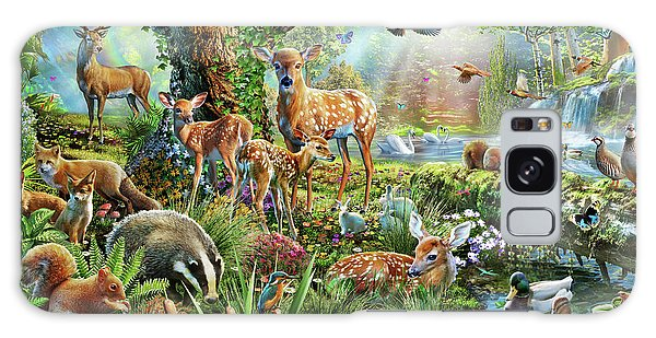 Waterfall Galaxy Case - Woodland Creatures by MGL Meiklejohn Graphics Licensing