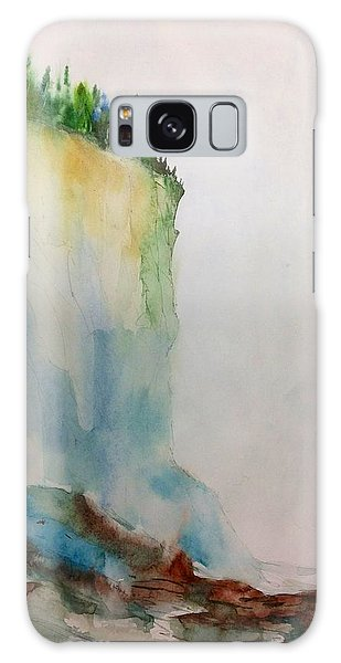 Woodland Trees On A Cliff Edge Galaxy Case