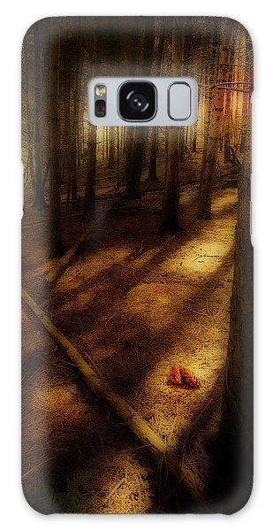 Woods With Pine Cones Galaxy Case by Meirion Matthias