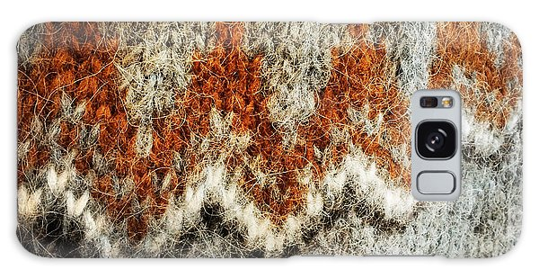 Detail Galaxy Case - Woolen Jersey Detail Grey And Orange by Matthias Hauser