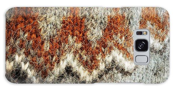 Woolen Jersey Detail Grey And Orange Galaxy Case