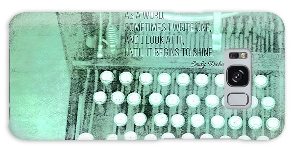 Words That Shine Galaxy Case by Bonnie Bruno