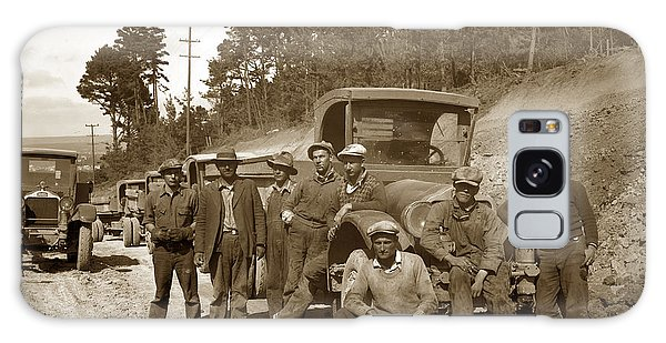 Workers On Highway One Monterey Carmel Hill California 1929 Galaxy Case