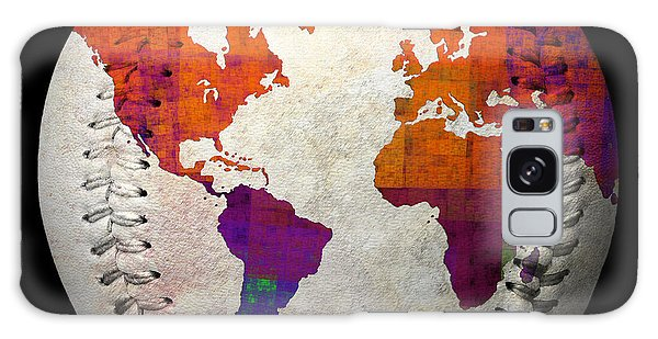 World Map - Rainbow Bliss Baseball Square Galaxy Case by Andee Design