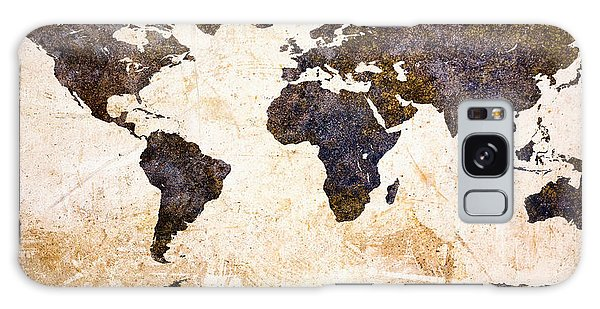 World Map Abstract Galaxy Case