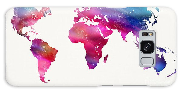 World Map Light  Galaxy Case