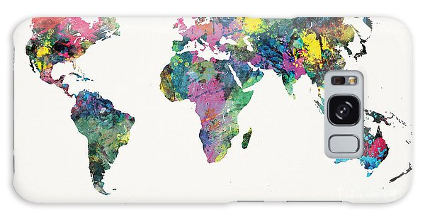 World Map Galaxy Case