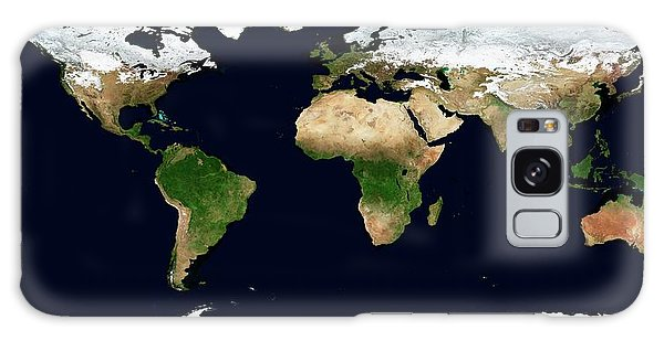 Earth From Space Galaxy Case - World Map by Nasa Earth Observatory/science Photo Library