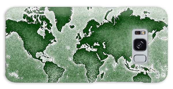 World Map Novo In Green Galaxy Case
