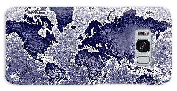 World Map Novo In Blue Galaxy Case by Eleven Corners