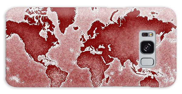 World Map Novo In Red Galaxy Case by Eleven Corners