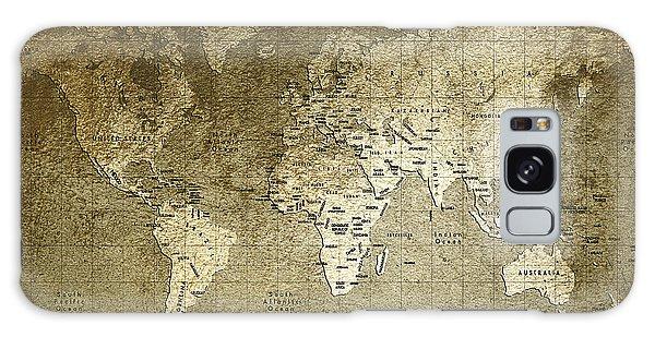 World Map Galaxy Case