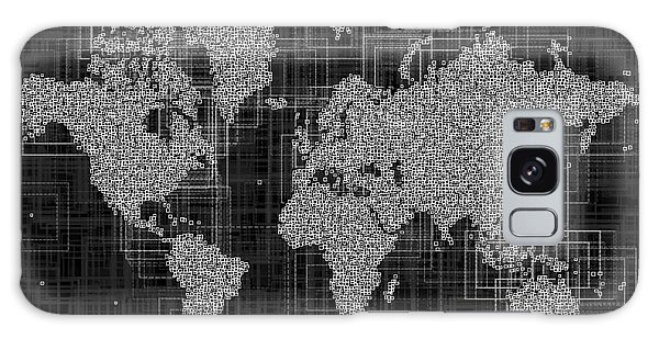 World Map Rettangoli In Black And White Galaxy Case