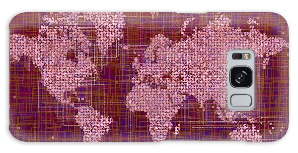 World Map Rettangoli In Pink Red And Purple Galaxy Case