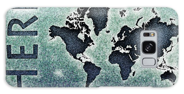 World Map You Are Here Novo In Black And Blue Galaxy Case