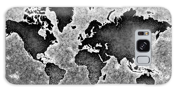 World Map You Are Here Novo In Black And White Galaxy Case