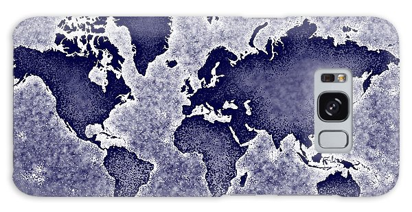 World Map You Are Here Novo In Blue Galaxy Case by Eleven Corners
