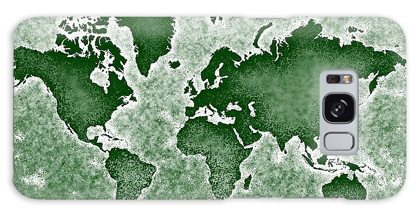 World Map You Are Here Novo In Green Galaxy Case