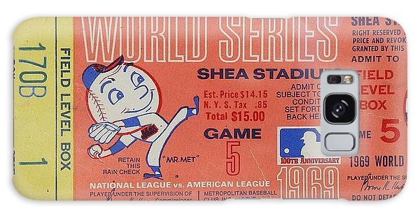 World Series Ticket Shea Stadium 1969 Galaxy Case by Melinda Saminski