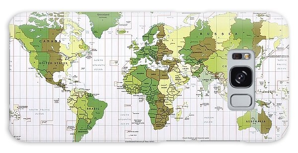 Usa Map Galaxy Case - World Time Zones by Library Of Congress, Geography And Map Division