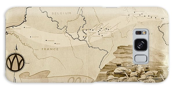 March Galaxy Case - World War I I Map Route Of The 89th by Marilyn Smith