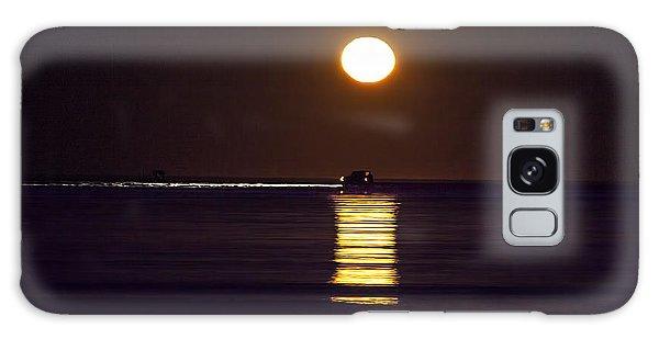 Worm Moon Rising Galaxy Case by Phil Mancuso