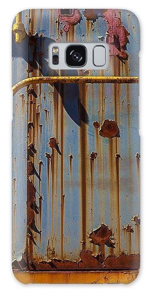 Handrail Galaxy Case - Worn Train Detail by Garry Gay