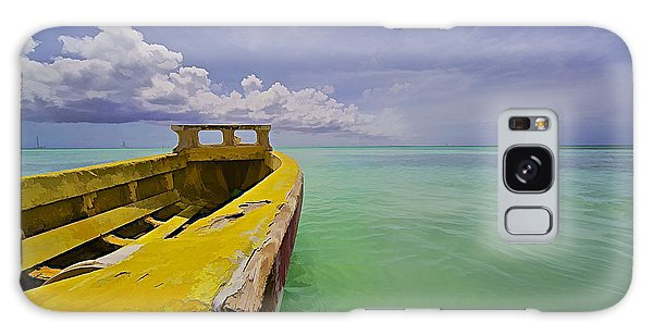 Worn Yellow Fishing Boat Of Aruba II Galaxy Case
