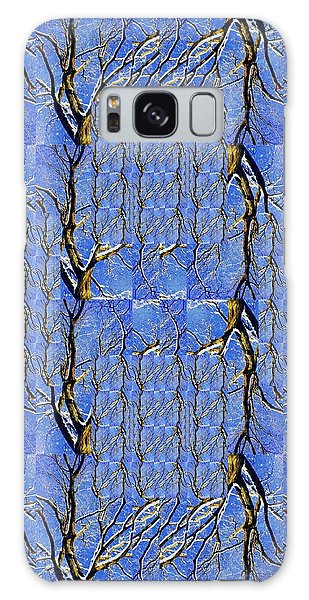 Woven Tree In Blue And Gold Galaxy Case