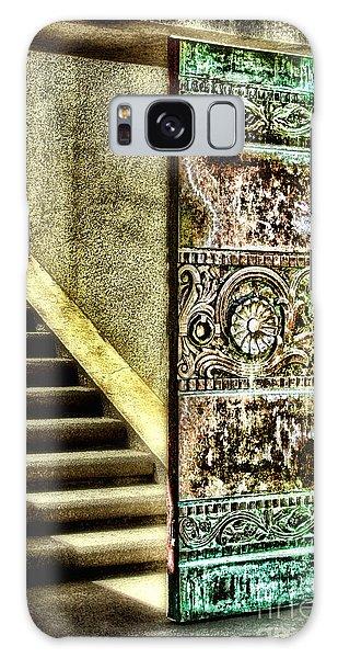 Wrigley's Tower Bronze Doors By Diana Sainz Galaxy Case