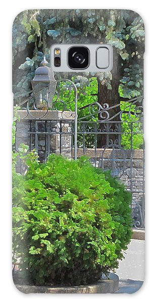 Wrought Iron Gate Galaxy Case by Donald S Hall