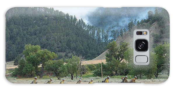 Wyoming Hot Shots Walk To Their Assignment Galaxy Case by Bill Gabbert