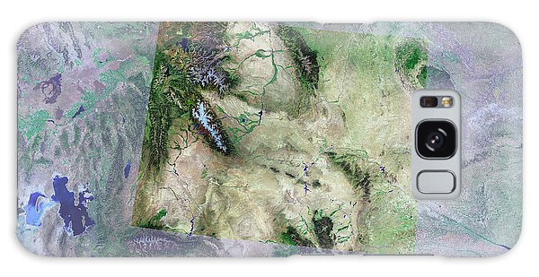 Usa Map Galaxy Case - Wyoming by Mda Information Systems/science Photo Library