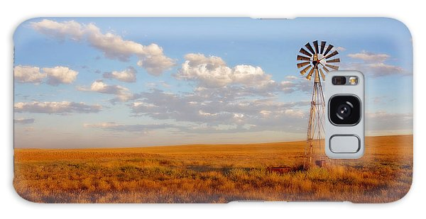 Windmill At Sunset Galaxy Case