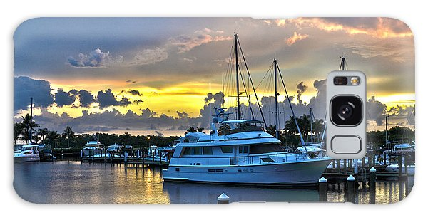 Yacht At Cape Coral Florida Marina And Resort 2 Galaxy Case