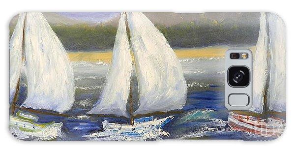 Yachts Sailing Off The Coast Galaxy Case