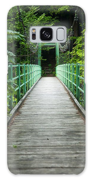 Galaxy Case featuring the photograph Yagen Forest Bridge by Brad Brizek