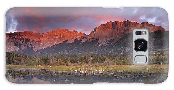 Yamnuska And Reflection  Galaxy Case