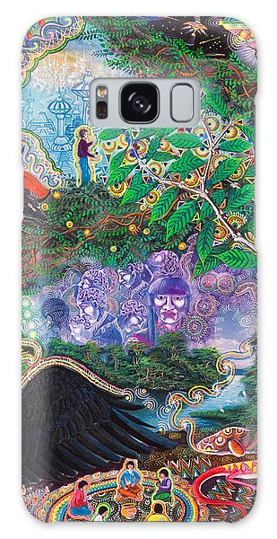 Galaxy Case featuring the painting Yana Huaman by Pablo Amaringo