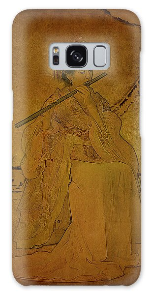 Paper Dress Galaxy Case - Yang Plays The Flute by Doug Matthews