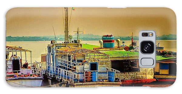 Yangon Harbour Galaxy Case by Wallaroo Images