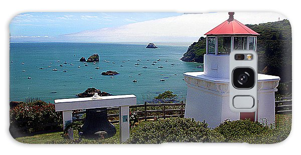 Yaquina Bay Lighthouse Galaxy Case by John Bushnell