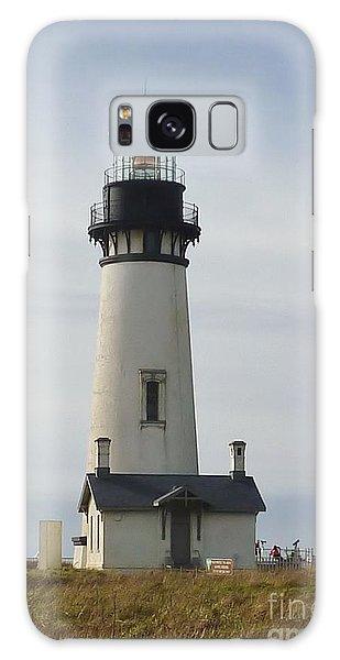 Yaquina Bay Lighthouse Galaxy Case by Susan Garren
