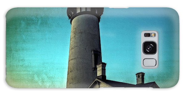 Yaquina Head Lighthouse At Sunset Galaxy Case