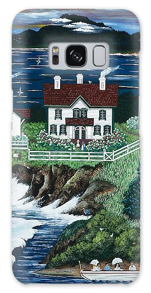 Yaquina Lighthouse Galaxy Case