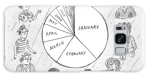 Calendar Galaxy Case - Year At A Glance--a Pie Chart Of The Months by Roz Chast