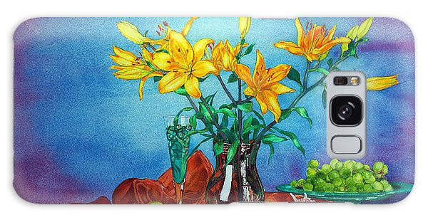 Yellow Lily In A Vase Galaxy Case