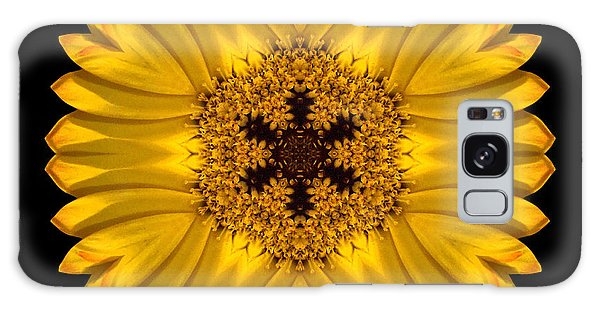 Yellow African Daisy Flower Mandala Galaxy Case
