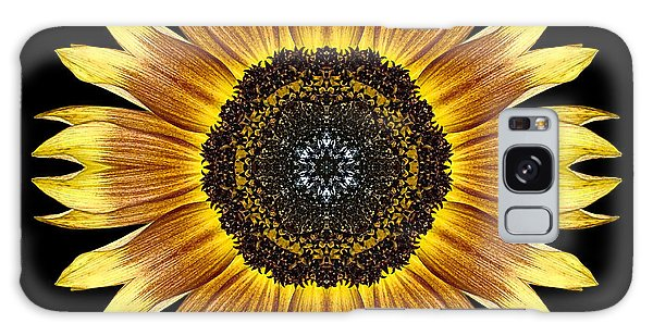 Yellow And Brown Sunflower Flower Mandala Galaxy Case
