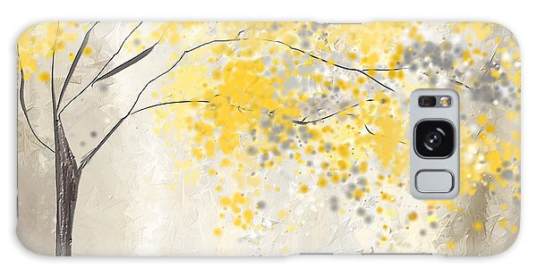Yellow And Gray Tree Galaxy Case